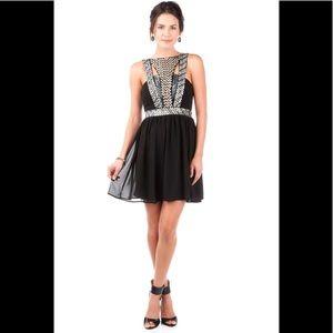 Quinn Cairo Sequin Party Cocktail Black Dress M